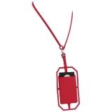 Silikonowy uchwyt RFID ze smyczą na karty kredytowe (13425802)