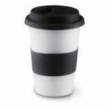 TRIBECA Ceramiczny kubek z przykrywką z nadrukiem (MO7683-03)