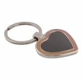 Brelok Brave Heart, czarny/srebrny z logo (R73196)