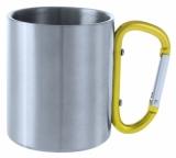 Metalowy kubek 200 ml z karabińczykiem (V8437-08)