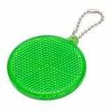 Światełko odblaskowe Circle Reflect, zielony z logo (R73163.05)