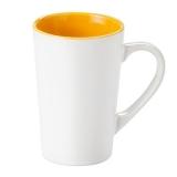 Kubek FRESH 300 ml biały / żółty