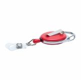Ski-pass z karabińczykiem, czerwony z logo (R08008.08)