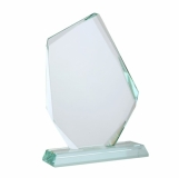 Trofeum Jewel, transparentny z logo (R22190)