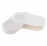Gumka do zmazywania Twirl, biały z logo (R64338.06)