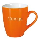 Kubek ILONA 300 ml pomarańczowy / biały