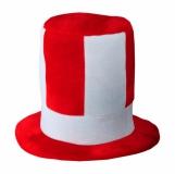 Kapelusz kibica, biały/czerwony z logo (R08770.08)
