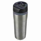 Kubek izotermiczny Winnipeg 350 ml, srebrny/czarny z grawerem (R08394.01)