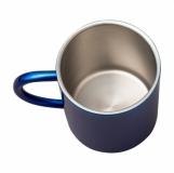 Kubek stalowy Stalwart 240 ml, niebieski z logo (R08490.04)