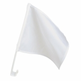 Flaga samochodowa z nadrukiem, bia�y (R73085)