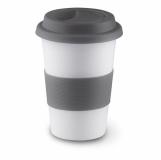 TRIBECA Ceramiczny kubek z przykrywką z logo (MO7683-07)