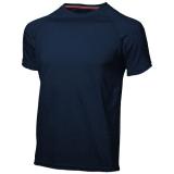 Slazenger Męski T-shirt Serve z krótkim rękawem z tkaniny Cool Fit odprowadzającej wilgoć (33019491)