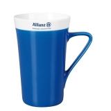 Kubek SLIM LADY 300 ml reflex blue / biały ()