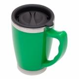 Kubek izotermiczny Copenhagen 380 ml, zielony z logo (R08364.05)