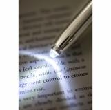 Długopis ? latarka LED Pen Light, czarny/srebrny z nadrukiem (R35650.02)