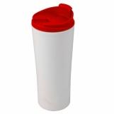 Kubek izotermiczny Tampa Bay 450 ml, czerwony/biały z logo (R08338.08)