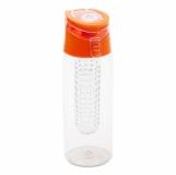 Bidon Frutello 700 ml, pomarańczowy/transparentny z logo (R08313.15)