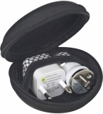 Zestaw - ładowarka USB i wtyczka z logo (3874603)