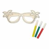 BRELI Drewniane okulary. z logo (MO8247-40)