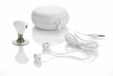 Zestaw: słuchawki douszne i rozdzielacz biały (09041-01)