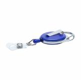 Ski-pass z karabińczykiem, niebieski z logo (R08008.04)