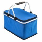Izotermiczny kosz piknikowy Huron, niebieski z logo (R08160.04)