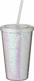 Akrylowy kubek Festus z cekinami o pojemności 470 ml (10059600)