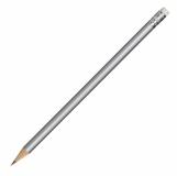 Ołówek drewniany, srebrny z nadrukiem (R73771.01)