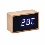 MIRI CLOCK Bambusowy budzik LED  (MO9921-40)