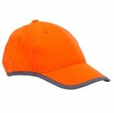 Odblaskowa czapka dziecięca Sportif, pomarańczowy z nadrukiem (R08717.15)