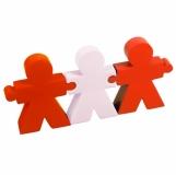 Antystresowy zestaw People, biały/czerwony z logo (R73937.08)