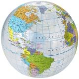 Przezroczysta piłka plażowa Globe (19538615)