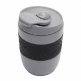 Kubek izotermiczny Offroader 200 ml, szary z logo (R08317.21)