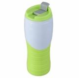Kubek izotermiczny Snag 400 ml, zielony/biały z nadrukiem (R08327.05)