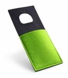 Filcowy uchwyt do ładowania telefonu zielony jasny (20406-13)