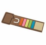 Zakładka do książek, beżowy z logo (R73670.13)