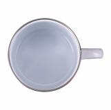 Kubek emaliowany Oldie 500 ml, biały z logo (R08230.06)