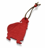 Zawieszka filcowa SANTA czerwony (08045)
