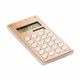 CALCUBAM 8-cyfrowy kalkulator bambusowy  z logo (MO6215-40)
