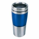 Kubek izotermiczny Resolute 380 ml, niebieski/srebrny z logo (R08349.04)