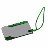 Przywieszka do bagażu, zielony/srebrny z nadrukiem (R08813.05)