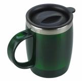 Kubek izotermiczny Barrel 400 ml, zielony z nadrukiem (R08368.05)