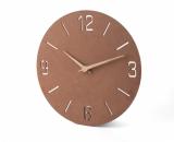 Zegar ścienny NATURAL brązowy (03090)