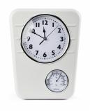 Zegar z termometrem biały (03065)