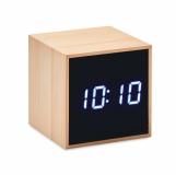 MARA CLOCK Bambusowy budzik LED z logo (MO9922-40)