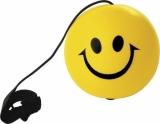 Antystres jo-jo Happy, żółty z nadrukiem (R73995)