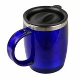 Kubek izotermiczny Barrel 400 ml, niebieski z nadrukiem (R08368.04)