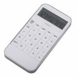 Kalkulator Lucent, biały z nadrukiem (R64484)