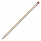 Ołówek z gumką, czerwony z logo (R73766.08)
