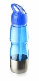Bidon ze słomką 600 ml niebieski (17627-03)